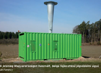 Belga fejlesztésű jégvédelmi ágyú Magyarországon. (A kép illusztráció). A kép forrása: agrarium7.hu