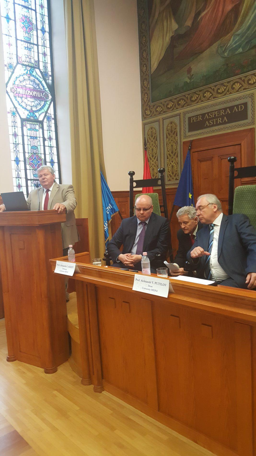 Süli János tárca nélküli miniszter megnyitó beszéde. A kép forrása: saját felvétel