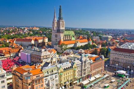 Zágráb belvárosa - látkép. A kép forrása: nemzetkozi.volanbusz.hu
